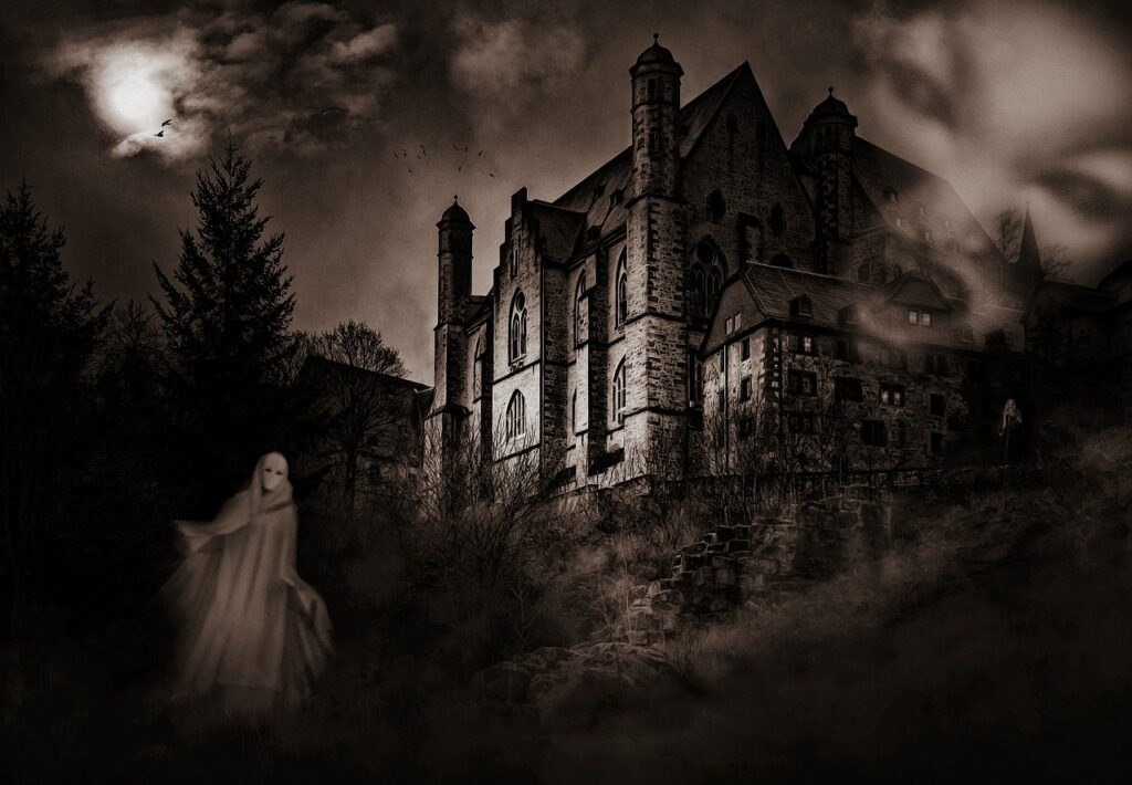 castle, mystical, ghosts